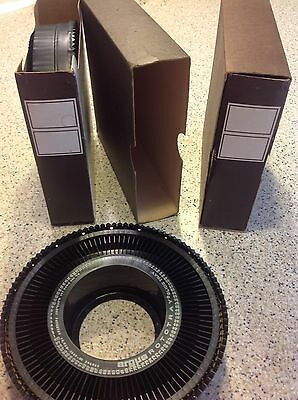 Lot of 2 Argus GAF Rototray 35mm Slide Trays 100 Capacity Patented 1967 Vintage