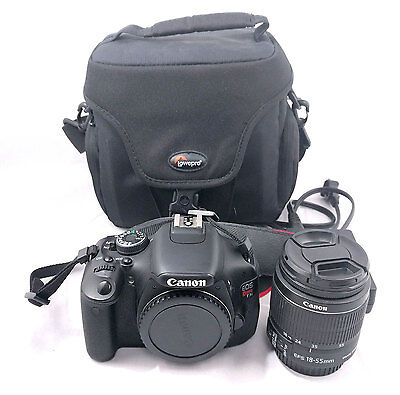 Canon EOS Rebel T3i 600D 18.0 MP DSLR with EF-S 18-55mm IS II lens and Carry Bag