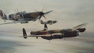 Battle Of Britain Memorial Flight Print Signed By Robert Taylor And All Pilots.