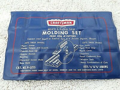 Craftsman Bench & Radial Saw Molding Set - Head & 18-Cutters, FREE SHIPPING!