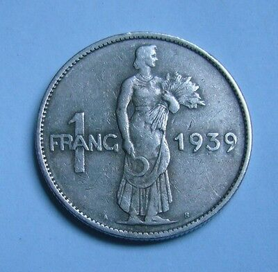 Luxembourg 1 Franc 1939, Woman figure