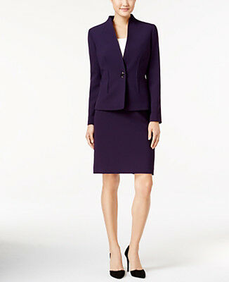 Tahari ASL New One-Button Skirt Suit Size 6 MSRP $280 #L 533