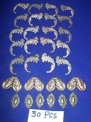 30 pieces vintage brass ormolu
