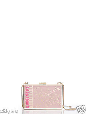 New Kate Spade Pink Clutch Purse Hand Bag New York Perfect Match Wedding Belles