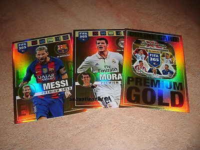 Panini Adrenalyn 2017 Fifa 365 Premium Gold limited edition -Messi-Morata-Online