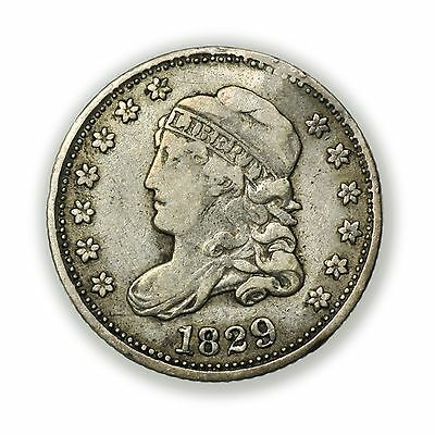 1829 Capped Bust Half Dime, Nice Condition, Small Silver Coin [3127.85]