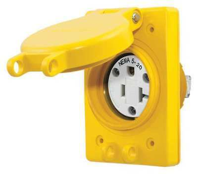 Watertight Receptacle, Hubbell Wiring Device-Kellems, HBL60W33