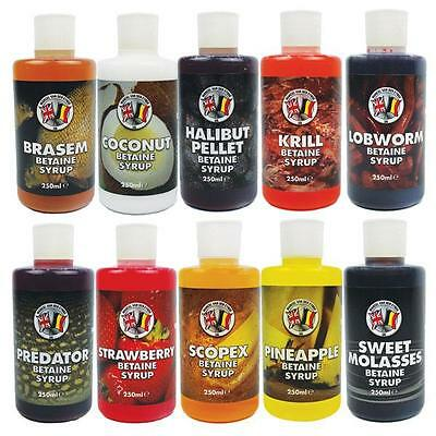 Van Den Eynde Betaine Syrup Carp Coarse Cat Fishing Liquid 250ml All Flavours