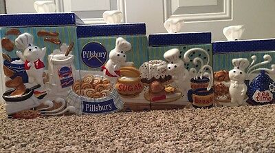The Pillsbury Doughboy CANISTER COLLECTION The Danbury Mint 8 Piece Set!!