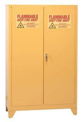 EAGLE 9010LEGS Flammable Safety Cabinet, 90 Gal., Yellow