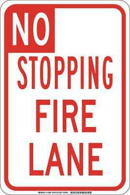 Traffic Sign,18 x 12In,Red/White BRADY 129633