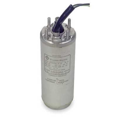 Subm Pump Mtr,1 Ph,2 HP,230V,4 In,3 Wire FRANKLIN ELECTRIC 2243019204S
