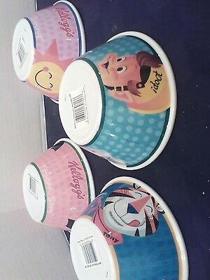 lot of 4 kelloggs cereal bowls