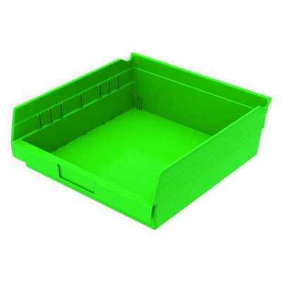 "Green Shelf Bin, 11-5/8""L x 11-1/8""W x 4""H AKRO-MILS 30170GREEN"