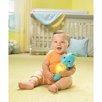New ELC Boys and Girls Fisher Price Soothe and Glow Seahorse Toy From Birth