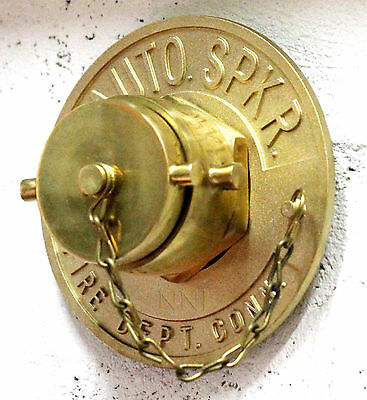 """2-1/2"""" NST Single Fire Department Connection with Polished Brass Plug & Swivel"""