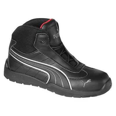 Size 6 Athletic Style Work Boots, Mens, Black, Steel Toe, EEE, Puma Safety Shoes