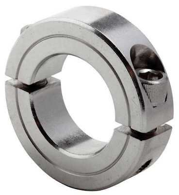 CLIMAX METAL PRODUCTS 2C-037-S Shaft Collar, Clamp, 2Pc, 3/8 In, SS