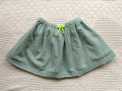 Zara Baby Girl Pull on Skirt 2-3T Mint Green EUC