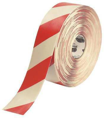 MIGHTY LINE 3RWCHVRED Ind Floor Tape,Roll,Red/White,Vinyl