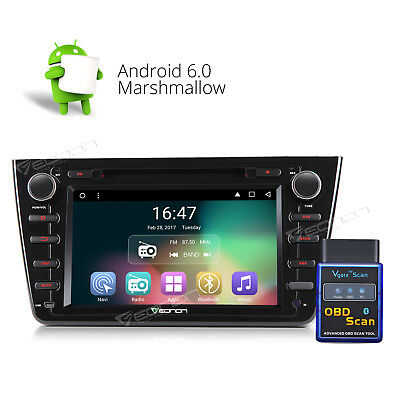 """OBD-II 8"""" Android 6.0 New Car DVD CD Player GPS Radio BT MP3 Navi S for Mazda 6"""