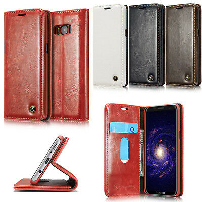 Luxury Flip Magnetic PU Leather Wallet Card Holder Stand Case Cover For Phones