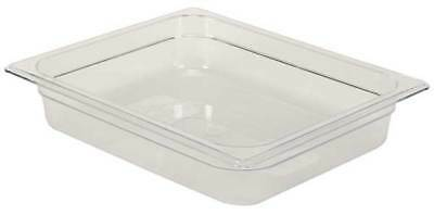 RUBBERMAID FG123P00CLR Half Size Food Pan, Cold, Clear
