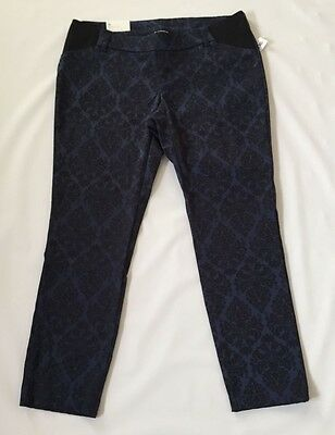 Old Navy 2 4 6 8 10 16 Pants Maternity Pixie Ankle Length Black Jacquard Print N