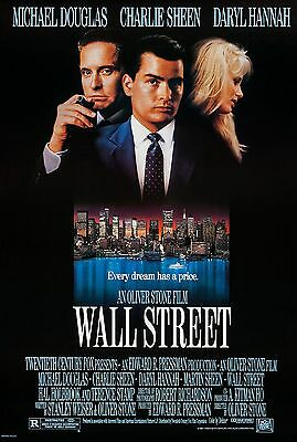 Wall Street (1987) Original Movie Poster  -  Rolled