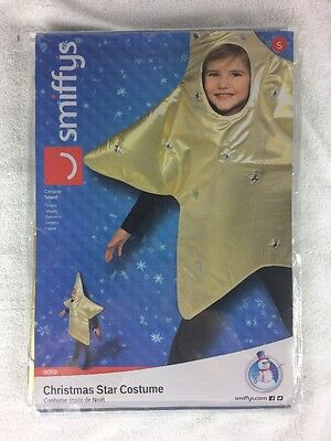 New Gold Christmas Star Costume Kids Nativity Fancy Dress Outfit Size S