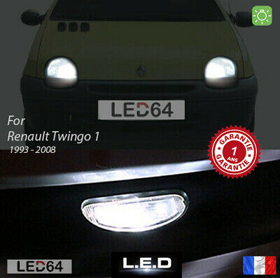 3 Light Bulbs LED White of Position + Plate for Renault Twingo 1