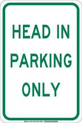Traffic Sign,18 x 12In,Green/White BRADY 129585
