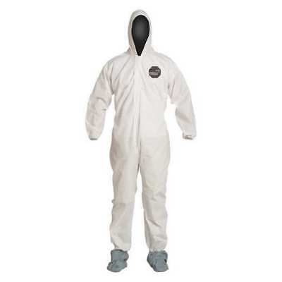 DUPONT PB120SWH2X002500 Proshield 10 Collared Disp Coverall,White,2XL,PK25