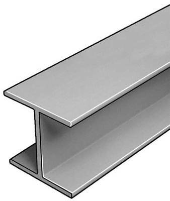 W-Beam,ISOFR,Gray,6x6 In,1/4 In Th,10 Ft DYNAFORM 871120
