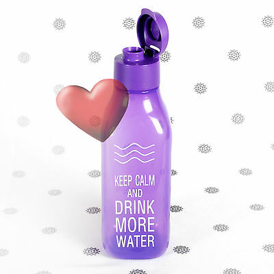 NEW Tupperware 1 Litre Eco Drink Bottle Square Purple H20 on the Go