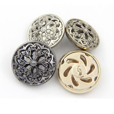 10pcs Flower Metal Round Shank Buttons Sewing Craft Embellishment 18 20 22 25mm