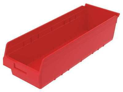 Shelf Bin,8-3/8 In. W,6 In. H,Red AKRO-MILS 30084RED