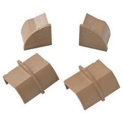 D-LINE US/CPECAP22QSP/GR Stainable Coupler and End Cap,Brown