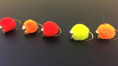 10 Muppet Glo Bugs,Dumbell Eye Egg Flies , Get Down To The Fish Fast