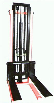 Hand Stacker Forklift 1 Ton 2.0 Meter CtyE  Double stage mast