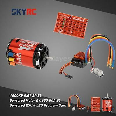 SkyRC 4000KV 8.5T 2P Brushless Sensored Motor + CS60 60A ESC + Program Card X6N0