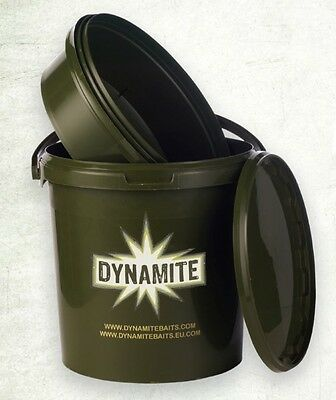 Dynamite Baits 10Ltr Bait Bucket, 2 compartment mixing and storage fishing tub