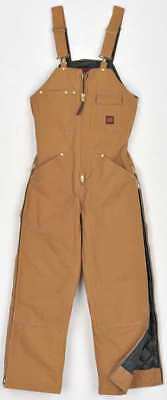 Insulated Bib Overalls,Cott Duck,Brn,S TOUGH DUCK 753716