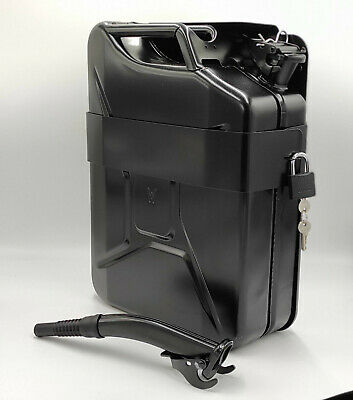 Jerry Can with Holder 20L Liter 5 Gallons - Steel Tank Fuel Gas Gasoline