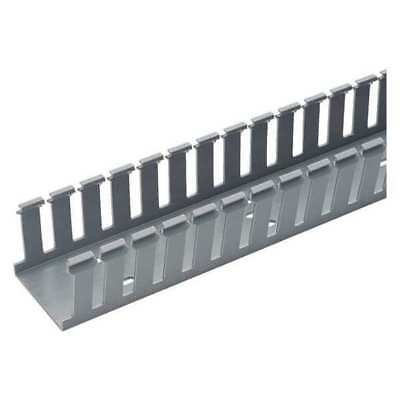 PANDUIT G2X4LG6 Wire Duct,Wide Slot,Gray,2.25 W x 4 D