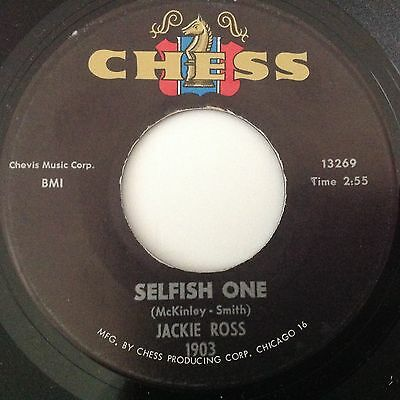 Jackie Ross-Selfish One/everything But Love-Chess 1903. Vg++