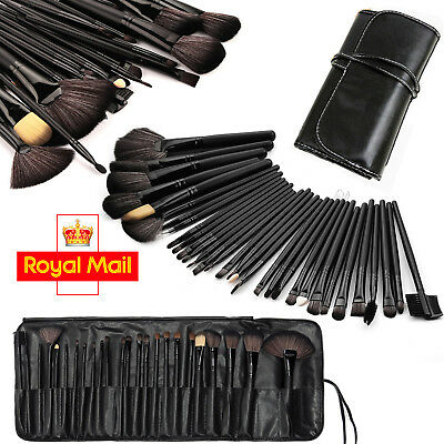 Professional 32 Pcs Kabuki Make Up Brush Set and Cosmetic Brushes Case