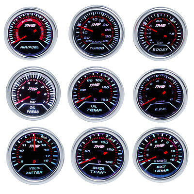52mm Motor Car Boost PSI/Water/Oil Temp/Pressure/Tachometer/Volt/AFR/EGT Gauge
