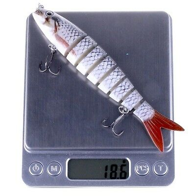 Long Pattern 8 Section Multi-jointed Fishing Lures Swimbait Live Baits 13.6cm