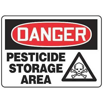 ACCUFORM SIGNS MCHL233VS Danger Sign, 7 x 10In, R and BK/WHT, ENG